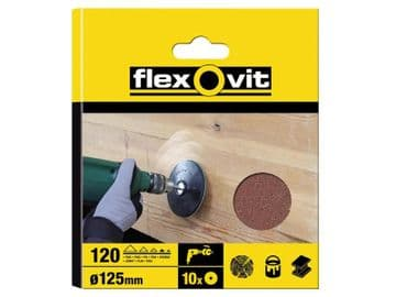 Drill Mountable Discs 125mm Fine 120G (Pack of 10)